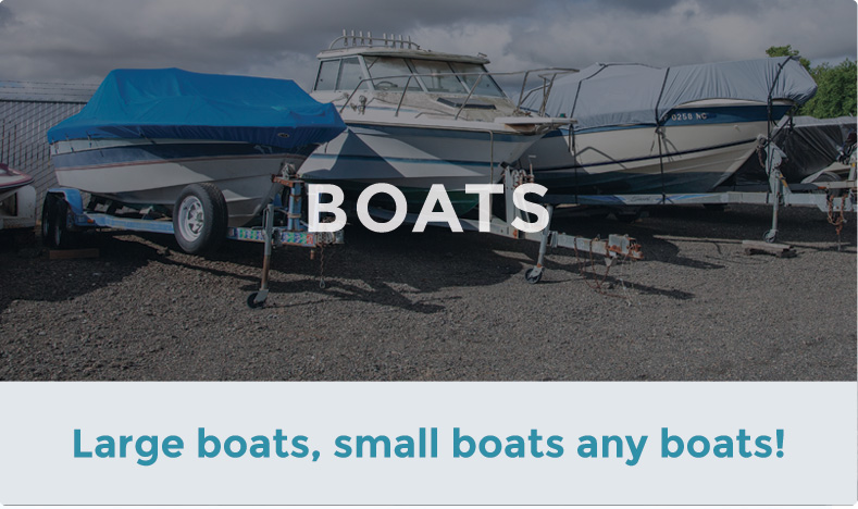 Store your boat with ACT Storage